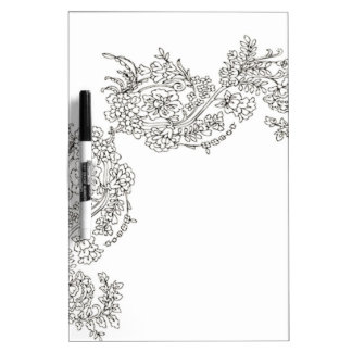 Vintage Lace Tattoo Look Dry-Erase Board