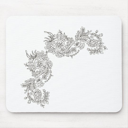 Vintage Lace Tattoo Look Mouse Pad