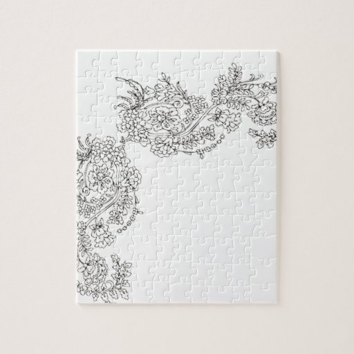 Vintage lace tattoo look puzzles zazzle
