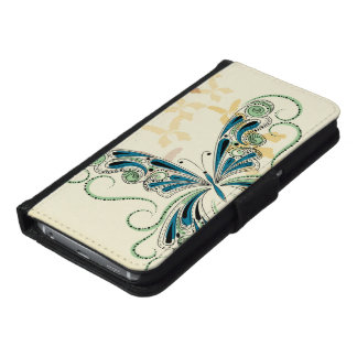 Vintage Lace Wallet Phone Case For Samsung Galaxy S6