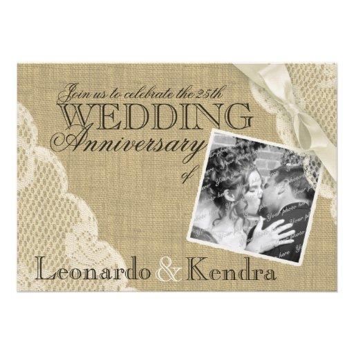 Vintage Lace Wedding Anniversary Invites