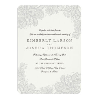 lace wedding invitations  announcements  zazzle, Wedding invitations