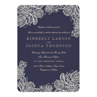 Vintage Lace Wedding Card at Zazzle