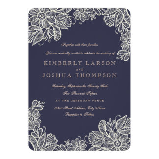 Lace Wedding Invitations & Announcements | Zazzle