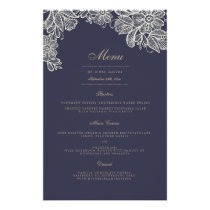 Vintage Lace Wedding Dinner Menu