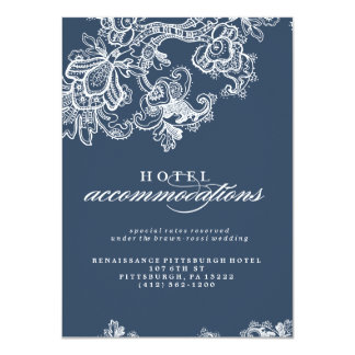 VINTAGE LACE WEDDING hotel accommodation card