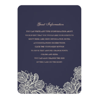 Vintage Lace Wedding Insert Card