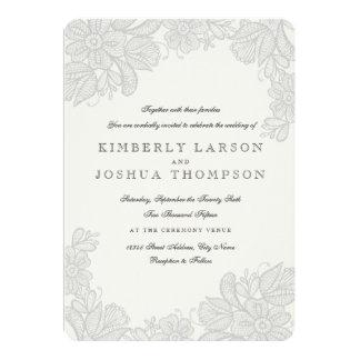 Vintage Lace Wedding Invitation