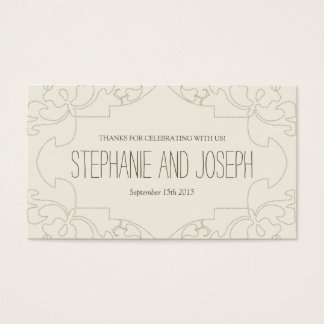 Vintage Lace Wedding Invitations // Cream