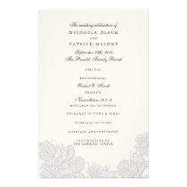 Vintage Lace Wedding Programs