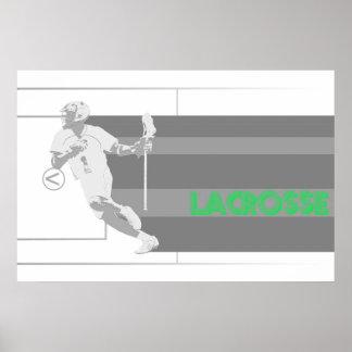 vintage lacrosse full field stripe poster