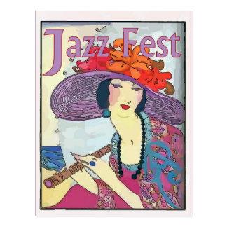 Vintage Ladey, Jazz Fest Postcard