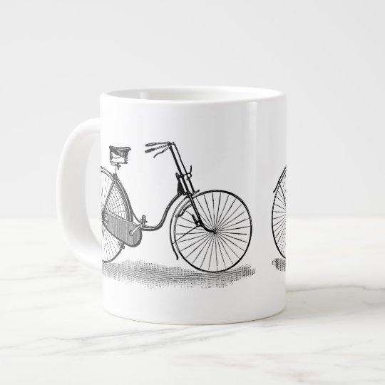 Vintage Ladies Bicycle Giant Coffee Mug