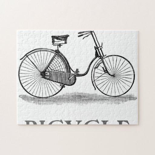 Vintage Ladies Bicycle Jigsaw Puzzle