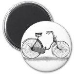Vintage Ladies Bicycle Magnet