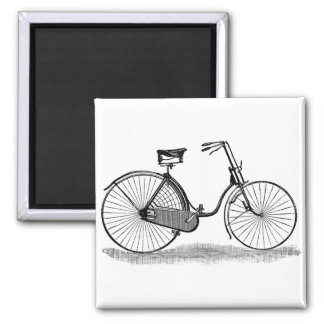 Vintage Ladies Bicycle Magnet