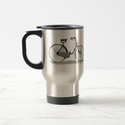 Vintage Ladies Bicycle 15 Oz Stainless Steel Travel Mug