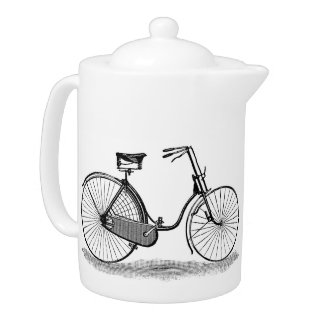 Vintage Ladies Bicycle Teapot