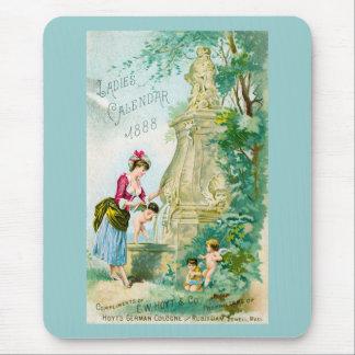 Vintage Ladies Calendar 1888 Cover Mouse Pad