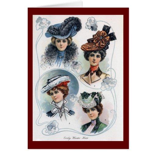 Vintage Ladies in Hats Card