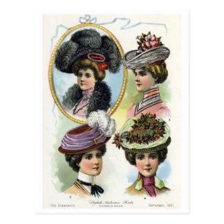 Vintage Ladies in Hats II Postcard