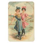 Vintage Ladies Premium Flexi Magnet Magnet