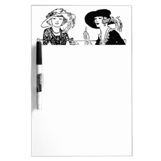 Vintage Ladies with Hats 1920's Victorian Fashion Dry-Erase Boards