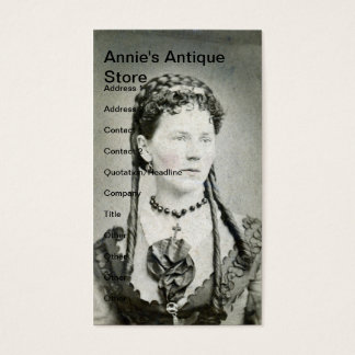 Vintage Lady, Annie's Antique Store Business Card