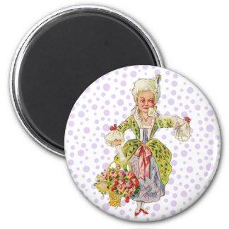 Vintage Lady Aristocrat 2 Inch Round Magnet