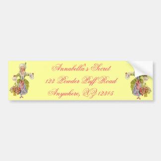 Vintage Lady Aristocrat Bumper Sticker