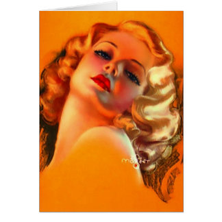 Vintage Lady, Birthday Stationery Note Card
