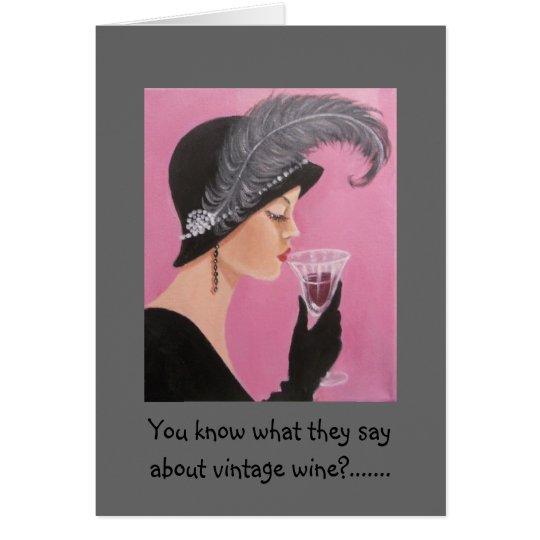 Vintage Lady Birthday Card – Lady Birthday Cards