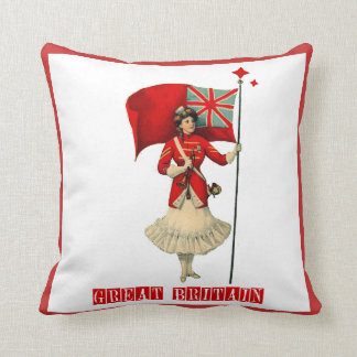 Vintage Lady & British Flag Pillows