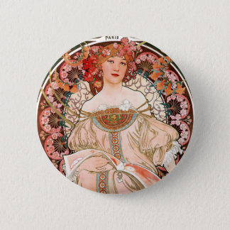 Vintage lady button