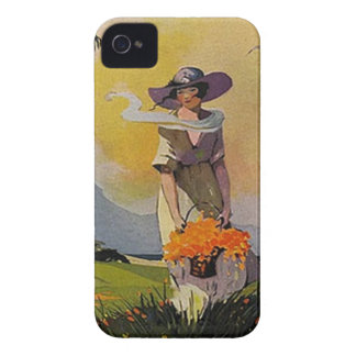 Vintage Lady by the Sea iPhone 4 Case-Mate Case