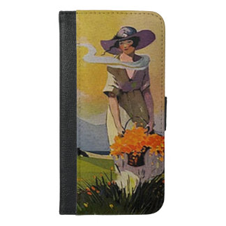Vintage Lady by the Sea iPhone 6/6s Plus Wallet Case