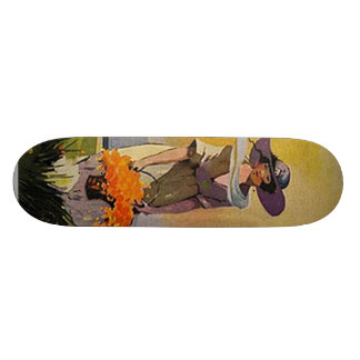 Vintage Lady by the Sea Skateboard Deck