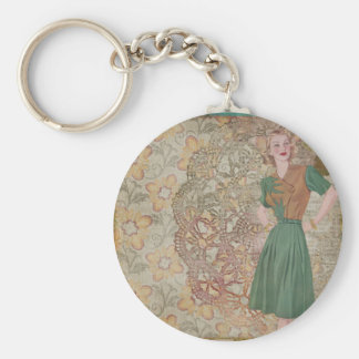 Vintage Lady Chic and Designs Keychain