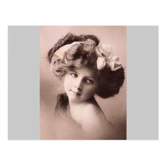 Vintage lady Circa 1900 Postcard
