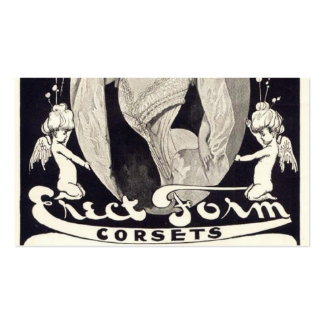 Vintage lady corsets advert business card