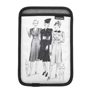 Vintage lady fashion page mini ipad cover iPad mini sleeves