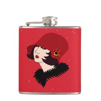 vintage lady flask