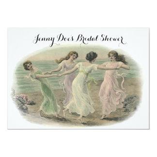 Vintage Lady Friends Bridal Shower Invitations