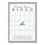 "Vintage Lady Hat Chevron Bridal Shower Bingo Cards 3.5"" X 5"" Invitation Card"