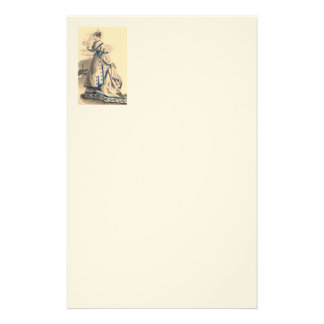 Vintage Lady In Blue And Beige Stationery