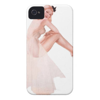 Vintage Lady in Pink Pin Up Girl Case-Mate iPhone 4 Case
