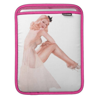 Vintage Lady in Pink Pin Up Girl iPad Sleeve