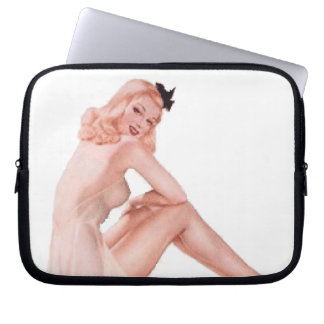 Vintage Lady in Pink Pin Up Girl Laptop Sleeve