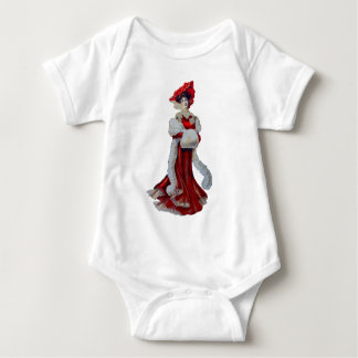 Vintage Lady in Red Baby Bodysuit