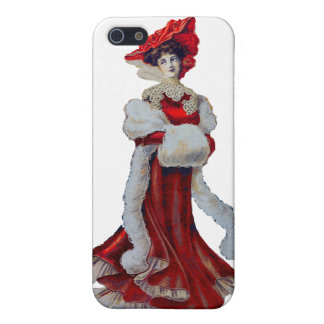 Vintage Lady in Red Cases For iPhone 5